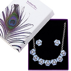 Butterfly by Matthew Williamson - Designer great value crystal and blue teardrop jewellery set