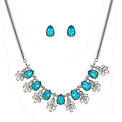 Butterfly by Matthew Williamson - Pretty blue cystal cluster necklace