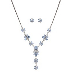 Butterfly by Matthew Williamson - Designer blue crystal y necklace and earring set