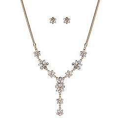 Butterfly by Matthew Williamson - Designer Crystal cluster y necklace and earring set