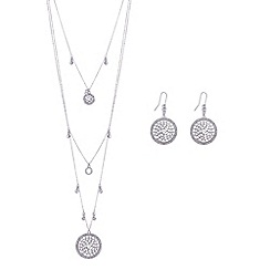Butterfly by Matthew Williamson - Designer silver filigree multi layer necklace and earring set