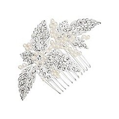 Butterfly by Matthew Williamson - Designer pearl and crystal leaf hair comb