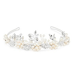 Butterfly by Matthew Williamson - Designer flower and crystal leaf hand wrapped tiara
