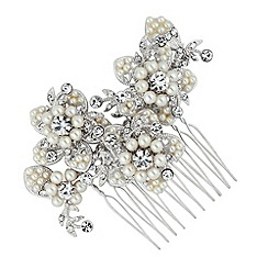 Butterfly by Matthew Williamson - Designer pearl and crystal flower hair comb