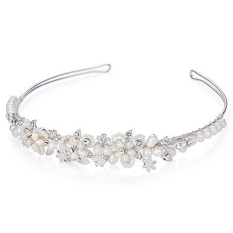 Butterfly by Matthew Williamson - Designer pearl and mini bead floral tiara