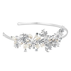 Butterfly by Matthew Williamson - Designer crystal flower and freshwater pearl headband