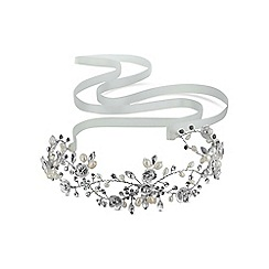 Butterfly by Matthew Williamson - Designer silver crystal hair ribbon