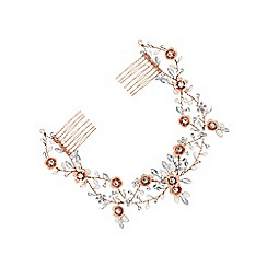 Butterfly by Matthew Williamson - Designer rose gold double hair comb