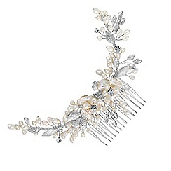 Butterfly by Matthew Williamson - Designer curved crystal and pearl hair comb