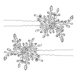 Butterfly by Matthew Williamson - Designer crystal starburst hair pin set