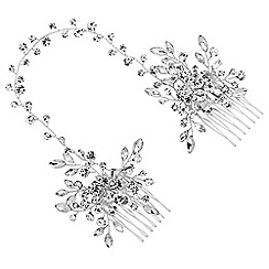 Butterfly by Matthew Williamson - Designer crystal spray double hair comb