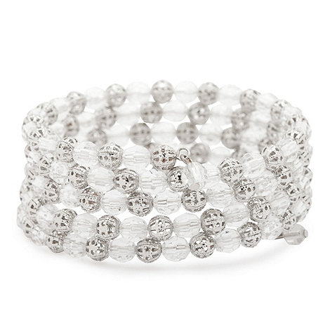 Butterfly by Matthew Williamson - Silver Ball Bead Cluster Bracelet