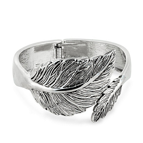 Butterfly by Matthew Williamson - Antique silver decorative leaf hinged bangle