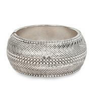 Textured antique silver effect bangle