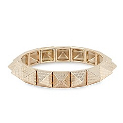 Butterfly by Matthew Williamson - Gold textured pyramid stretch bracelet