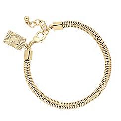 Butterfly by Matthew Williamson - Designer gold snake chain bracelet