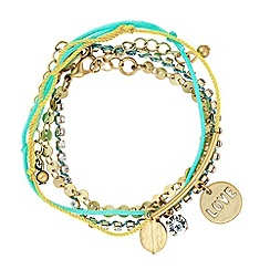 Butterfly by Matthew Williamson - Designer turquoise friendship bracelet set