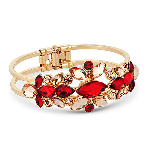 Butterfly by Matthew Williamson - Designer red stone set hinge bangle