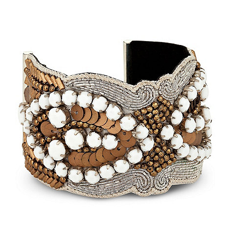 Butterfly by Matthew Williamson - Designer online exclusive beaded fabric bracelet