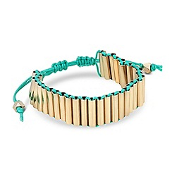 Butterfly by Matthew Williamson - Designer green tube friendship bracelet