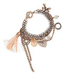 Butterfly by Matthew Williamson - Designer multi charm tassel bracelet