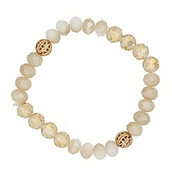 Butterfly by Matthew Williamson - Designer neutral glass bead stretch bracelet