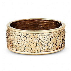 Butterfly by Matthew Williamson - Designer textured coin panel bangle