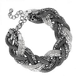 Butterfly by Matthew Williamson - Designer multi chain plait bracelet