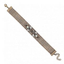 Butterfly by Matthew Williamson - Designer aurora borealis crystal mesh bracelet