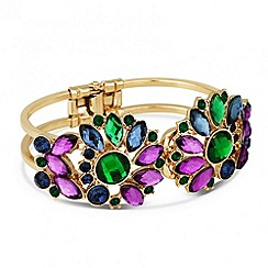Butterfly by Matthew Williamson - Designer multicoloured crystal hinge bracelet