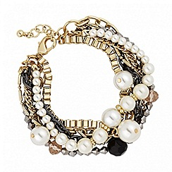 Butterfly by Matthew Williamson - Designer pearl and chain multirow bracelet