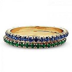 Butterfly by Matthew Williamson - Designer green and blue stone encased bangle set