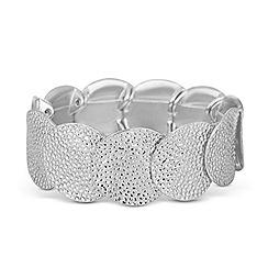 Butterfly by Matthew Williamson - Designer textured metal disc stretch bracelet