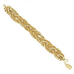 Butterfly by Matthew Williamson - Designer mixed chain plaited bracelet
