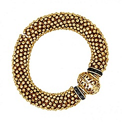 Butterfly by Matthew Williamson - Designer grey crystal and gold million ball bracelet