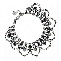 Butterfly by Matthew Williamson - Designer hematite diamante crystal loop bracelet