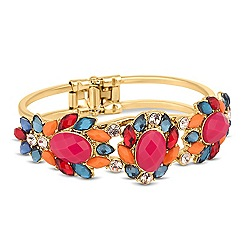 Butterfly by Matthew Williamson - Designer multicoloured floral hinged bangle