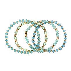 Butterfly by Matthew Williamson - Designer set of four aqua stretch bracelets