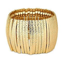 Butterfly by Matthew Williamson - Designer textured panel stretch bracelet
