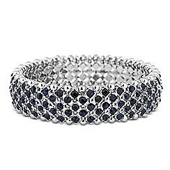 Butterfly by Matthew Williamson - Designer blue crystal embellished stretch bracelet