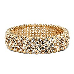 Butterfly by Matthew Williamson - Designer gold crystal embellished stretch bracelet