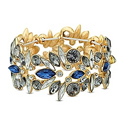 Butterfly by Matthew Williamson - Designer blue mixed cluster stretch bracelet