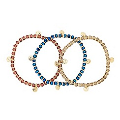 Butterfly by Matthew Williamson - Designer set of three beaded stretch bracelets
