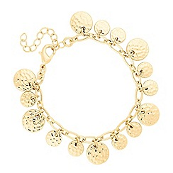 Butterfly by Matthew Williamson - Designer textured coin drop bracelet