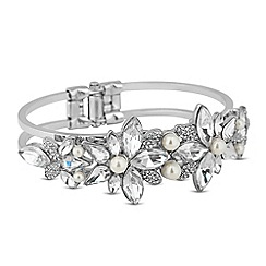 Butterfly by Matthew Williamson - Designer crystal navette and pearl hinged bangle