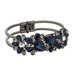 Butterfly by Matthew Williamson - Designer mixed blue peardrop hinged bangle