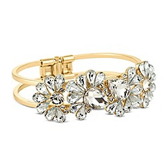 Butterfly by Matthew Williamson - Designer gold crystal peardrop hinged bangle