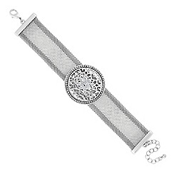 Butterfly by Matthew Williamson - Designer silver filigree coin embellished bracelet