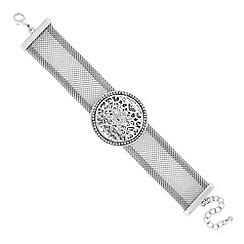 Butterfly by Matthew Williamson - Designer silver filigree coin embellished bracelet