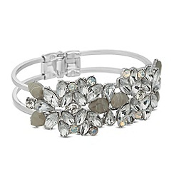 Butterfly by Matthew Williamson - Designer navette cluster hinged bangle